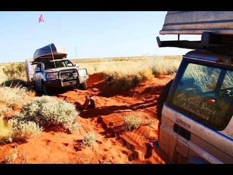 GALL BOYS - CANNING STOCK ROUTE - AUSTRALIA - LC200 & CARAVAN
