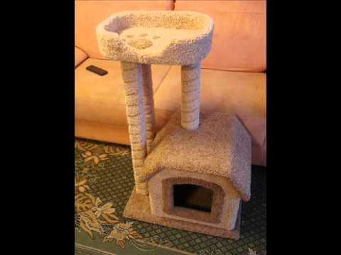 Как сделать домик для кошки видео своими руками