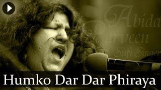 Humko Dar Dar Phiraya - Abida Parveen - Top Sufi Songs