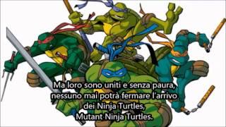 Tartarughe Ninja - Con noi - Gabriele Ponte ( Sigla completa + Testo )