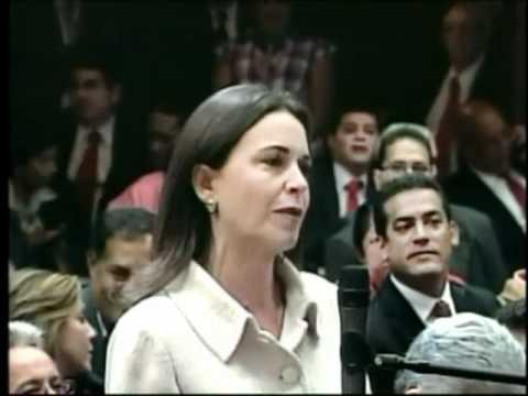 El encontronazo de María Corina y Chávez