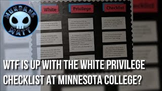 [News] WTF is up with the White Privilege Checklist at Minnesota College?
