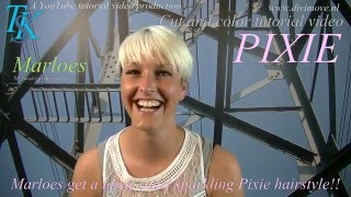 A Ultra-short Sparkling Platinum Pixie for Marloes!!! by T.K.S.