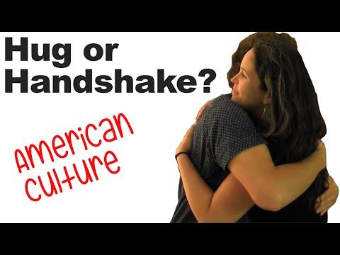 watch Greetings and Goodbyes, Hug or Handshake? Hugging and American Culture