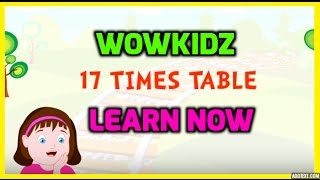 Musical tables - 17 Times Table - HD