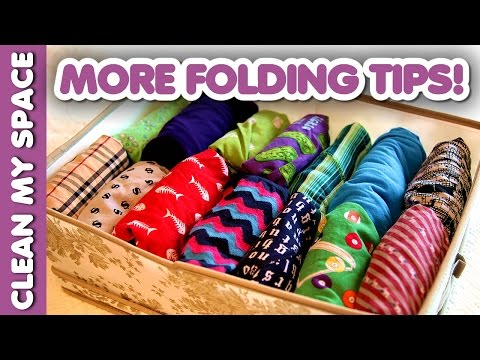 More Folding Tips Clean My Space