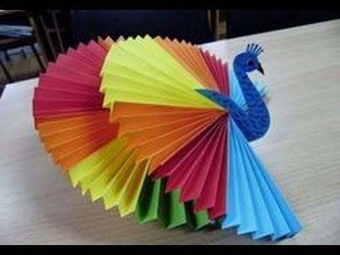 How to make 3d origami peacock  Activities for kids  Craft activities for kids