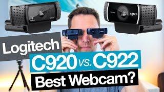 Best Webcam: Logitech C922 vs C920