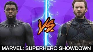 Captain America Vs Black Panther | Superhero Showdown In Hindi | BlueIceBear