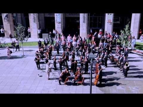 Huge symphonic & choir flashmob Budapest Hungary Bánk Bán s Aria My homeland my homeland