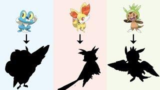 Gen 6 Starters Pokemon as Birds | Pokemon Gen 8 Fanart