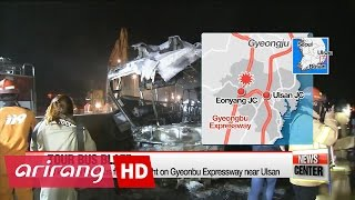 Tour bus catches fire in Korea, killing at least 10