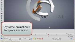 3D Logo Animation Design by Keyframe in Aurora 3D Animation Maker