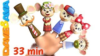 👍 Finger Family | Nursery Rhymes: Daddy Finger Song and More Children's Songs from Dave and Ava 👍
