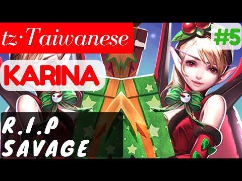 R.I.P Savage [Rank 1 Karina] | tz·Taiwanese Karina Gameplay and Build #5 Mobile Legends