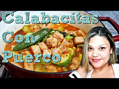 Mexican Style Pork and Squash Recipe Calabacitas Con Puerco Simply Mama Cooks