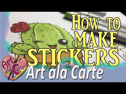 How to make your own Stickers that you can color