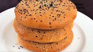 Afghani Root Without Yeast, روت بدون خمیرمایه  Sweet Naan Bread Recipe Without Yeast