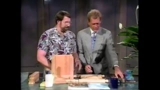 Norm Abram Builds a Planter on the David Letterman Show