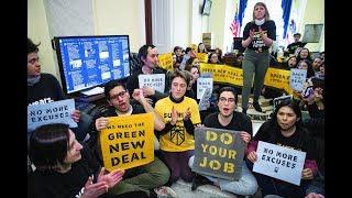 Young Climate Activists Storm Capitol Hill Demanding A Green New Deal