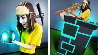 NERF Fortnite Port-A-Fort Challenge!