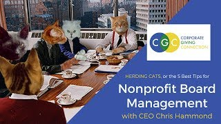 5 Tips for Nonprofit Board Management: Herding Cats with CEO Chris Hammond