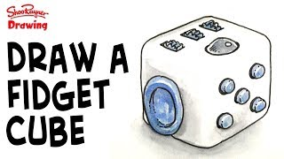 How to draw a Fidget Cube - step by step