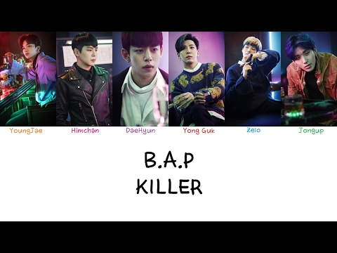 B.A.P - Killer (Color coded lyrics Han|Rom|Eng)