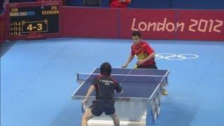 Table Tennis Quarter-Final - Kishikawa (JPN) v Wang (CHN) | London 2012 Olympics