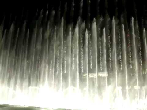 burj dubai waterfountain