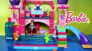 Mega Bloks Barbie Build n Play Underwater Castle Building Set