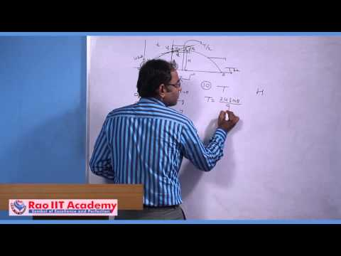 Oblique Projectile Motion - IIT JEE Main and Advanced Physics Video Lecture [RAO IIT ACADEMY]