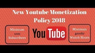 New Monetisation policy of Youtube  2018 - Tagalog