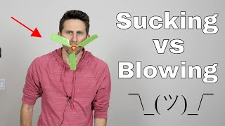 Is Sucking the Opposite of Blowing? The Reverse Sprinkler Problem