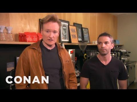 Conan Takes Jordan Schlansky Coffee Tasting CONAN on TBS