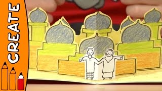 Craft Ideas For Kids - Flying Carpet Pop Up Card | World Of Art | Øistein Kristiansen