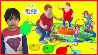 WHO TOOTED Whoopie Cushion gas game for Kids! Egg Surprise Toys with Ryan ToysReview