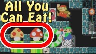 Super Mario Maker Level Showcase - EAT The Funnier Mushrooms