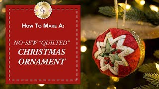 """No-Sew """"Quilted"""" Christmas Ornament 