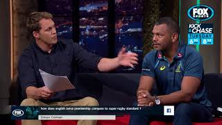 Rugby Kick and Chase - Kurtley Beale answers viewer questions