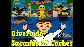 🚗 50 Carros De Hot Wheels 📤 Sacando De La Caja Super Divertida Revision 😂