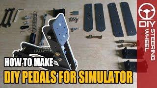 DIY Pedal Box for Simulator | DIY Steering Wheel - Sim Racing Rig