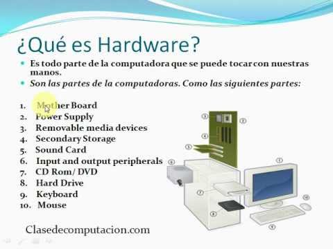 Que es hardware y software