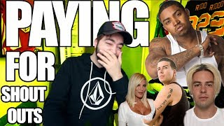 PAYING CELEBRITIES FOR SHOUT OUTS!