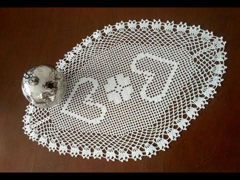 Oval Dantel Modelleri, Tepsi Örtüsü, Tığişi Örgü & Crochet