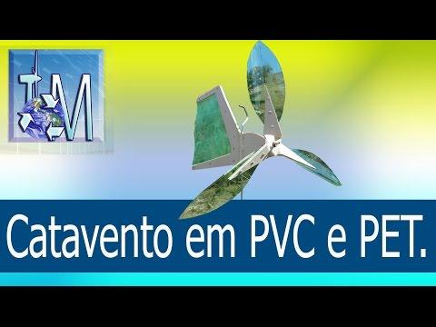 Catavento em PVC e PET