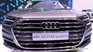2018 Audi A8L - Exterior and Interior Walkaround - 2017 Frankfurt Auto Show