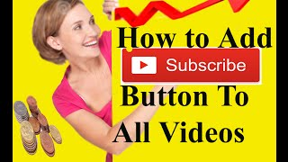 Point IT Bangla Tutorial: How To add Subscribe Buttom  Youtube Channel  All videos Tutorial  Part- 4