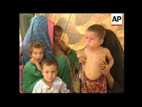Afghan refugees in Jalozai camp