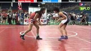 Junior WM 130 - Jasmine Mendez (California) vs. Hailey Hall (Washington)